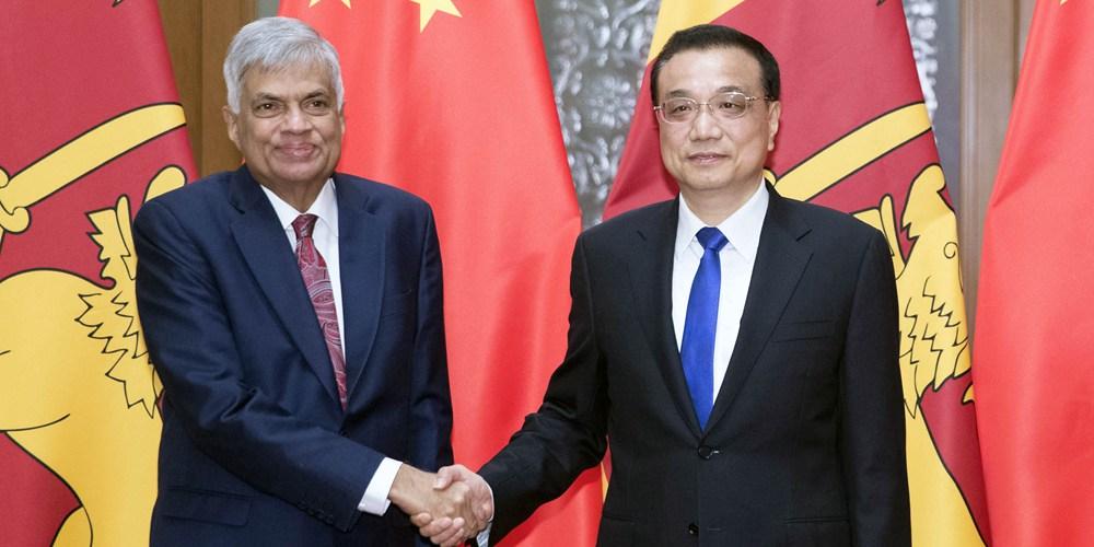 Ли Кэцян встретился с премьер-министром Шри-Ланки Р. Викрамасингхе