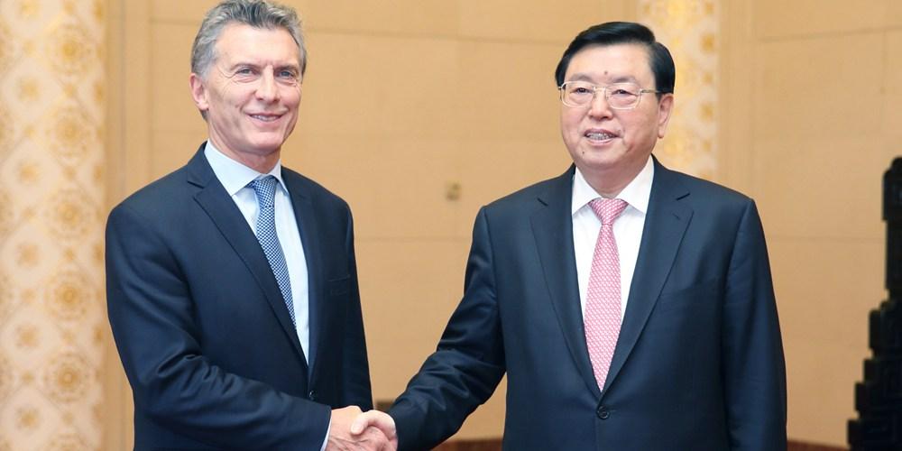 Чжан Дэцзян встретился с президентом Аргентины М.Макри