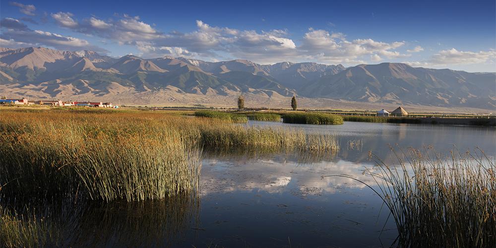 Парк водно-болотных угодий Гаоцзяху в Синьцзяне
