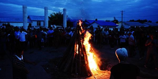 Праздник божества огня у орочон в провинции Хэйлунцзян