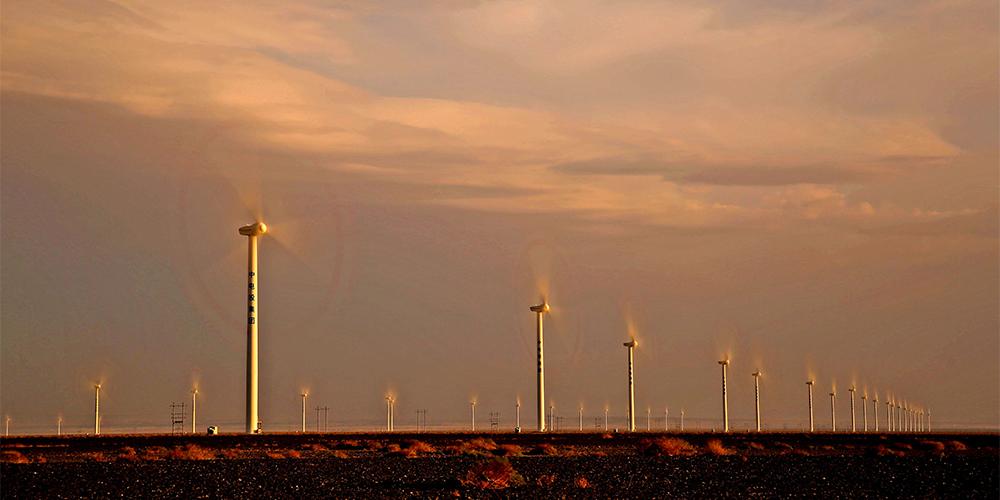 Энергия ветра на равнинах Синьцзяна
