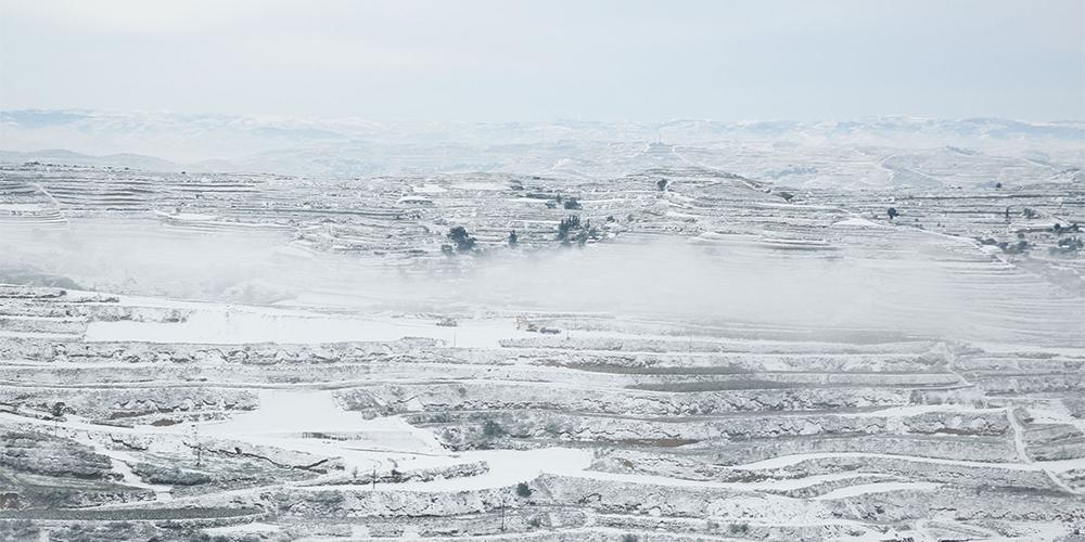 В провинции Ганьсу выпал снег