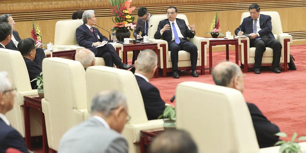 Ли Кэцян встретился с делегацией экономических кругов Японии