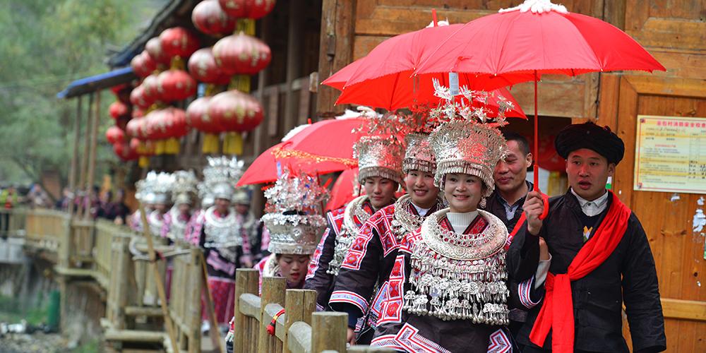 Празднование Нового года народности мяо в уезде Цзяньхэ