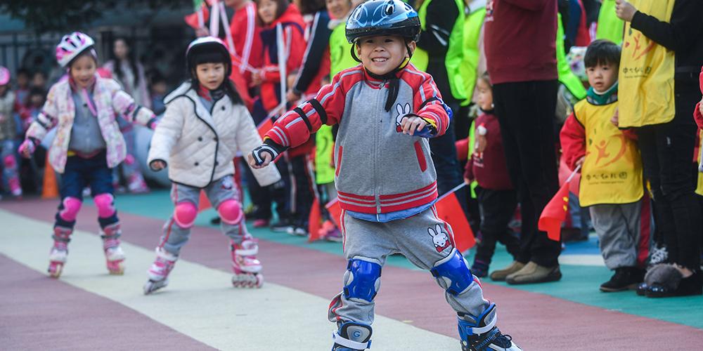 Спортивные мероприятия в детском саду провинции Чжэцзян