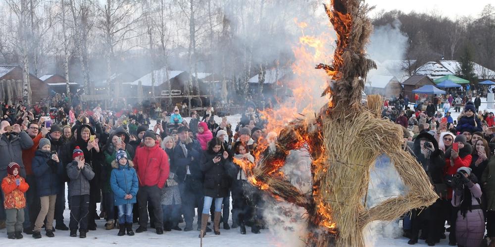 В Киеве отпраздновали Масленицу