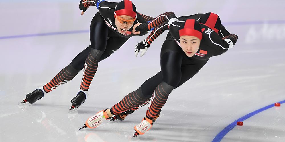 Китайские конькобежки заняли 5-е место в командной гонке на ОИ-2018