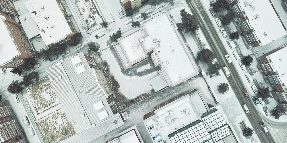 Февральский снежок в Чанчуне