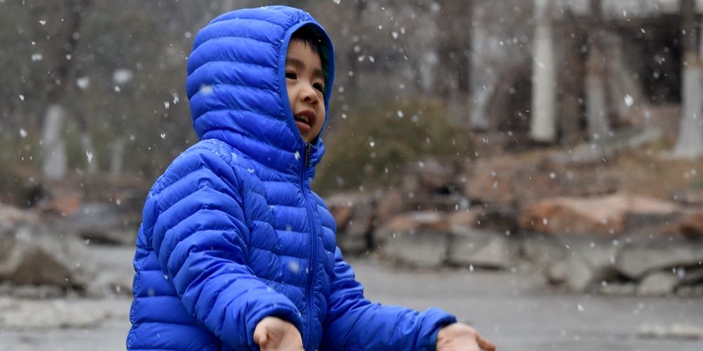 В Пекине выпал снег