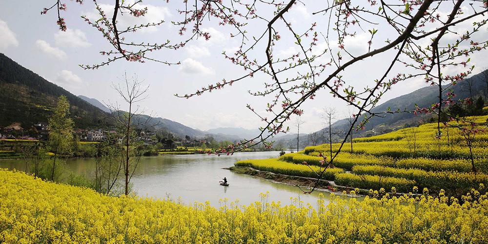 Весенний день на реке в Чунцине