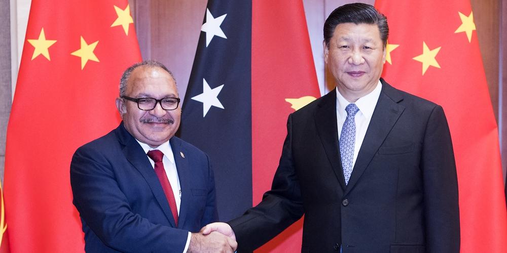 Си Цзиньпин встретился с премьер-министром Папуа-Новой Гвинеи