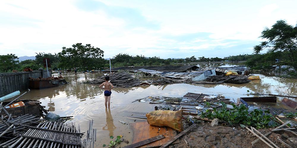 """В городском округе Янцзян проводятся мероприятия по помощи пострадавшим в результате супертайфуна """"Мангхут"""""""