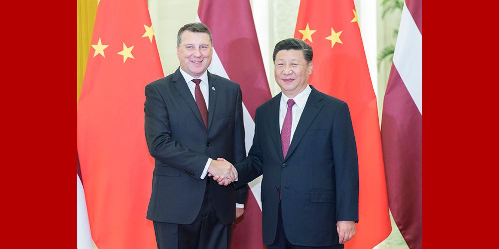 Си Цзиньпин встретился с президентом Латвии