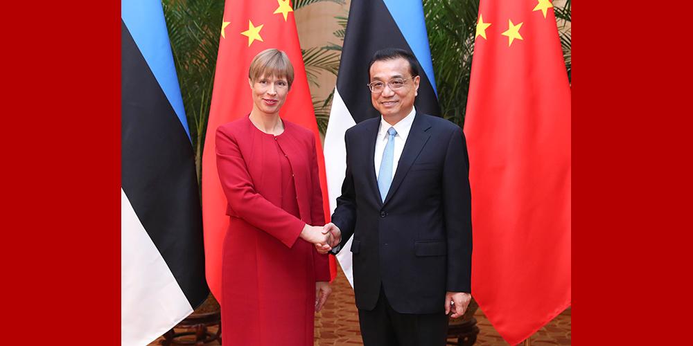 Ли Кэцян встретился с президентом Эстонии К. Кальюлайд