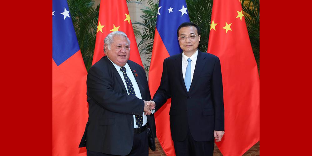 Ли Кэцян провел переговоры с премьер-министром Самоа Т. С. Малиелегаои