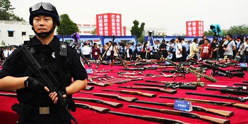 В Китае проведена единая кампания по уничтожению изъятого нелегального огнестрельного оружия