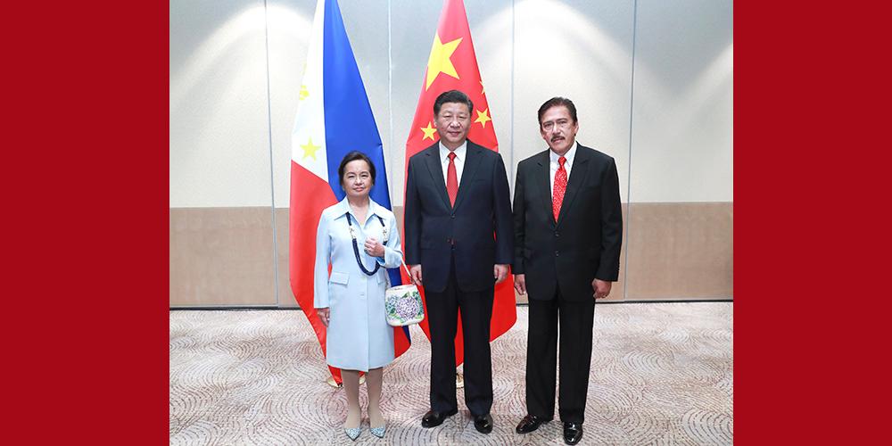 Си Цзиньпин встретился с председателями двух палат парламента Филиппин