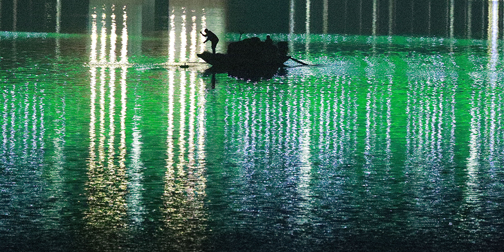 Ночная рыбалка в провинции Хубэй