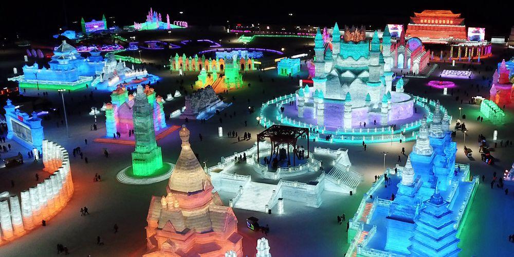 """Блеск """"Мира снега и льда"""" в городе Харбин"""