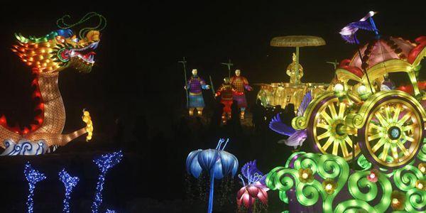 В Киеве открылся Фестиваль гигантских китайских фонарей