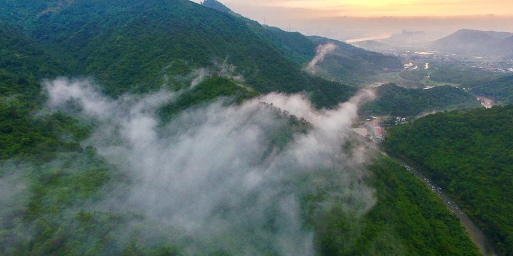 Горы после дождя в провинции Фуцзянь