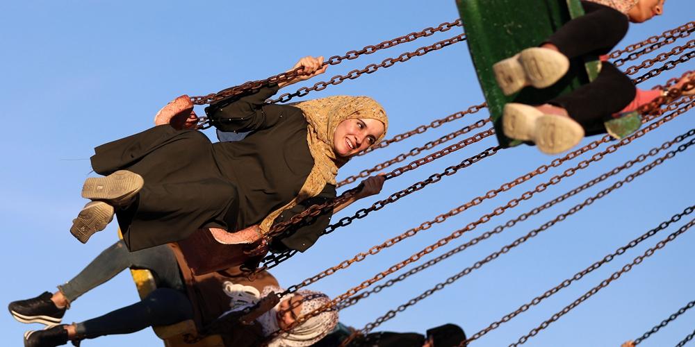 Палестинцы отмечают праздник Курбан-байрам