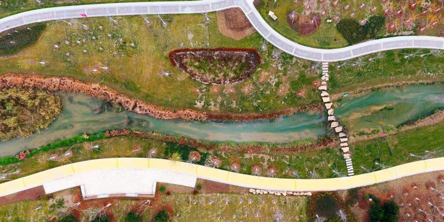 Новое место для прогулок вдоль реки в Цзинане