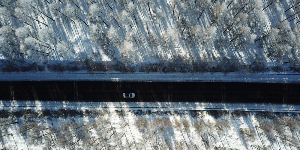 Живописные зимние пейзажи района Башан в провинции Хэбэй