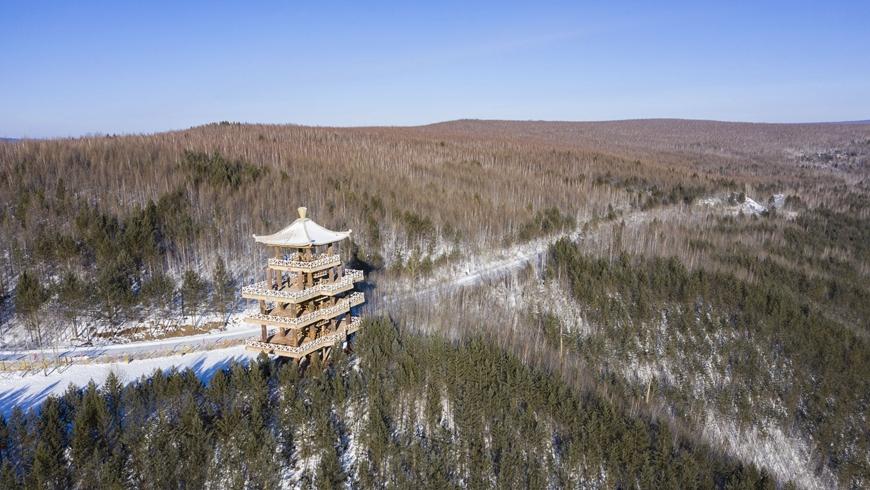Зимний пейзаж самого северного края Китая