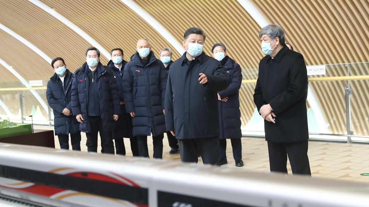 Си Цзиньпин проинспектировал соревновательную зону Чжанцзякоу зимних Олимпийских игр-2022 в Пекине