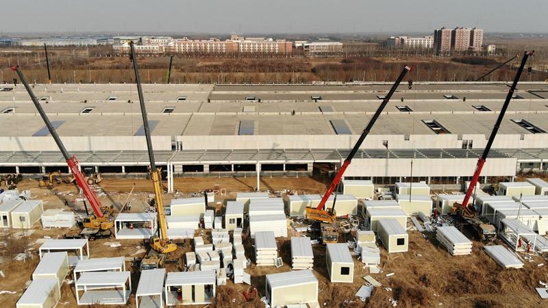 Полным ходом ведется строительство помещений для карантина в г. Наньгун пров. Хэбэй