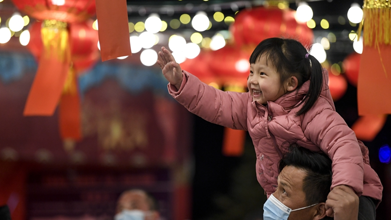 Веселый Праздник фонарей в Китае
