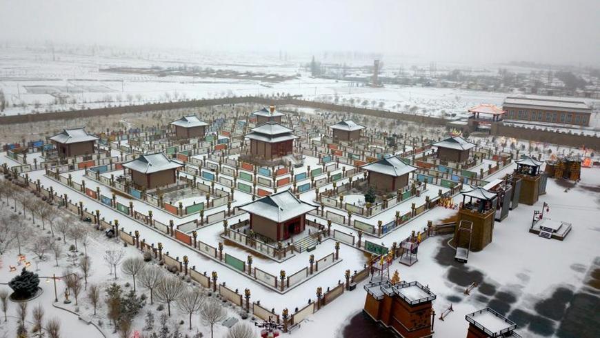 Весенний снег на просторах Китая