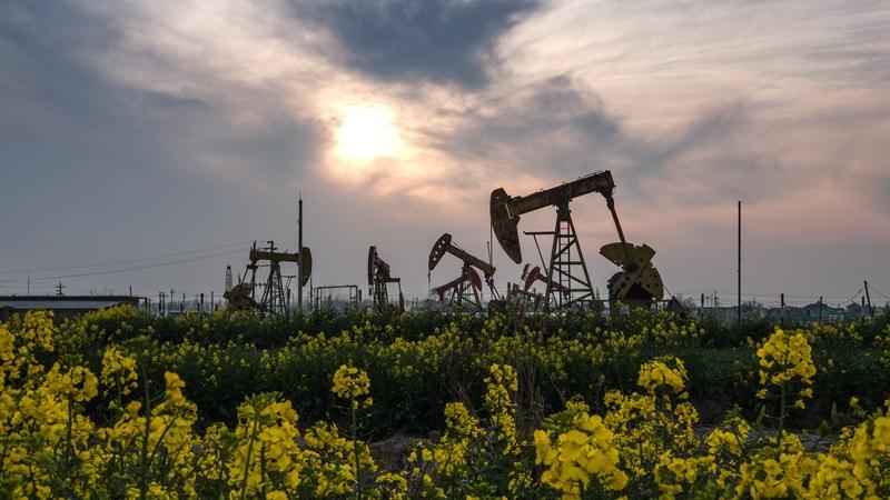 Добыча нефти в районе Лисяхэ пров. Цзянсу на востоке Китая