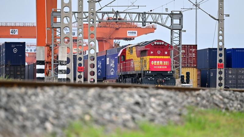 Число отправлений грузовых составов между г. Сиань и Европой превысило 1000 с начала 2021 года